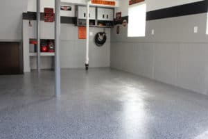 epoxy garage floor installation