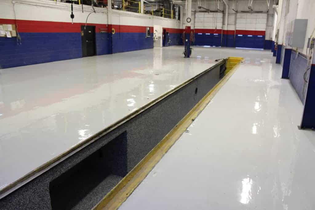 Industrial Flooring installed by Amazing Garage Floors
