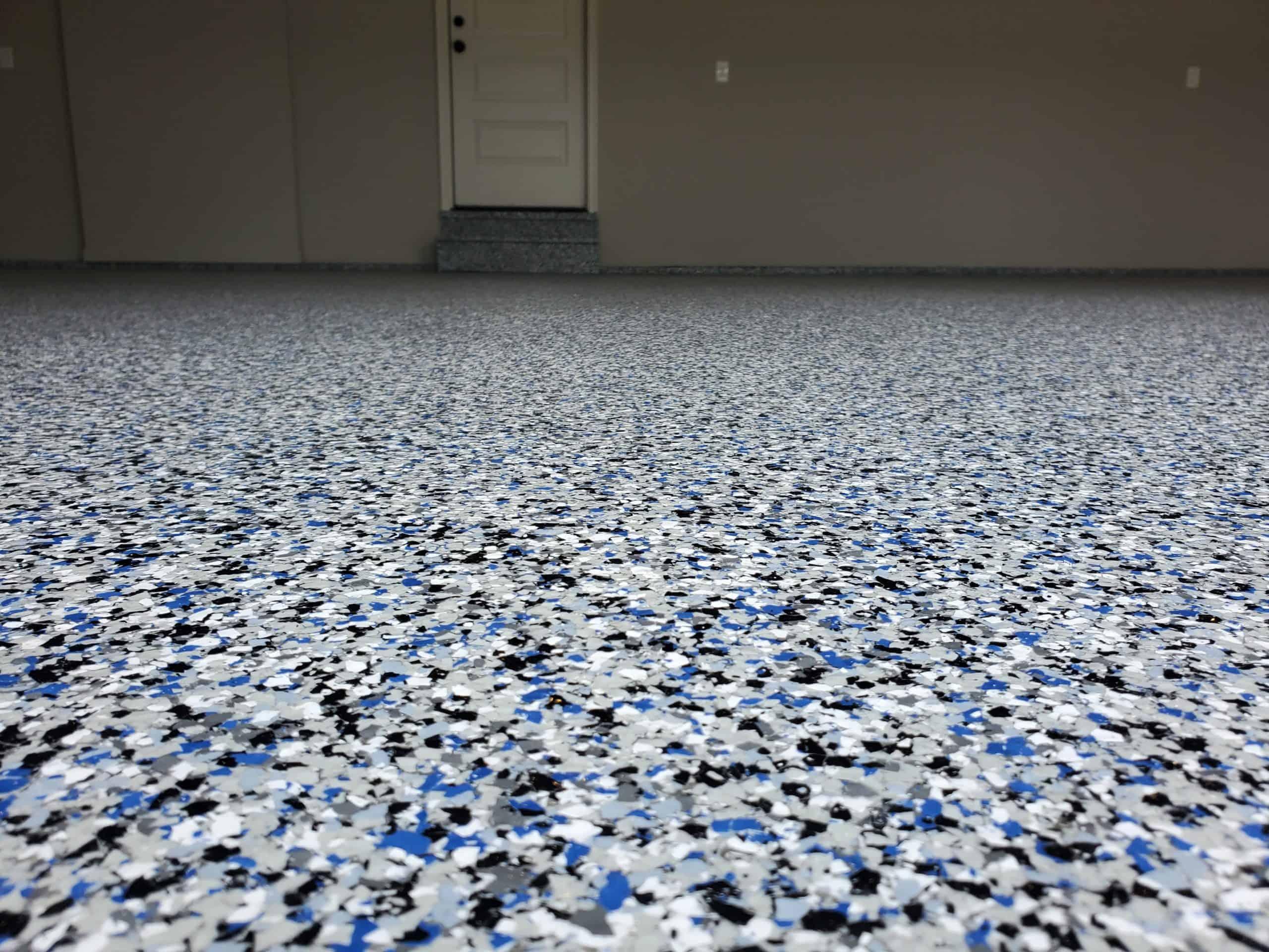 garage floor chips
